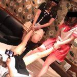 【失神連続!電気あんまで悶絶!】美百合ちゃん、沙羅ちゃん、くるみちゃんの残酷ショー